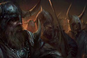 fantasy art artwork darek zabrocki  vikings