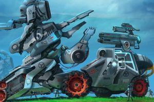 fantasy art artwork robot concept art