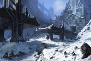 fantasy art artwork snow