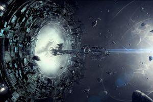 fantasy art artwork spaceship space stars concept art digital art