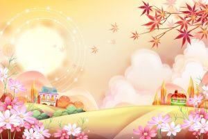 fantasy art colorful artwork flowers landscape