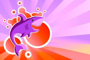 fantasy art colorful artwork shark