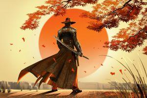fantasy art cowboys video games samurai artwork japan