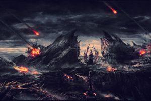 fantasy art dark fantasy sky