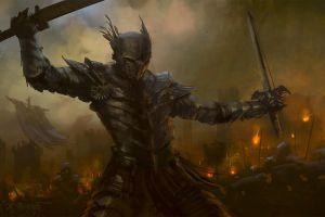 fantasy art dark fantasy sword warrior armour