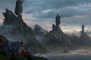 fantasy art fantasy art statue war
