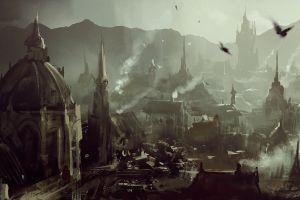 fantasy art fantasy city darek zabrocki