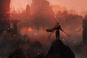 fantasy art fantasy city dark