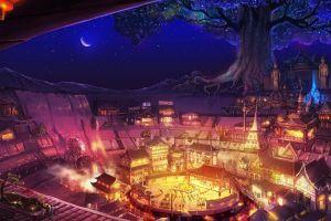 fantasy art fantasy city night