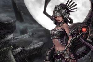 fantasy art fantasy girl moon