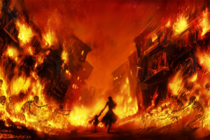 fantasy art fire video games world of warcraft skeleton