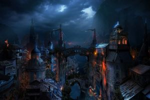 fantasy art photo manipulation fantasy city mostar