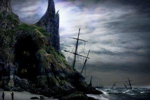 fantasy art pirates coast