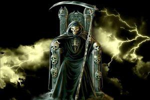 fantasy art skull grim reaper death halloween