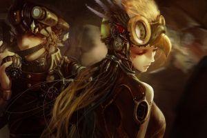 fantasy art soldier concept art artwork steampunk women