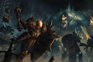 fantasy art video games artwork diablo iii 2012 (year) battle armored skeleton video game art crusaders