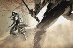 fantasy art warrior samurai