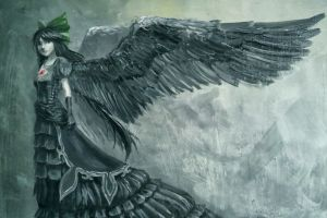 fantasy art wings gothic angel fantasy girl