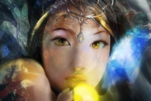 fantasy art yellow eyes fantasy girl asian