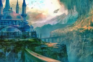 fantasy city artwork fantasy art landscape