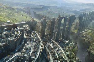 fantasy city fantasy art bridge cityscape
