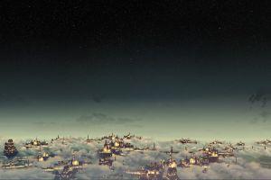 fantasy city night fantasy art