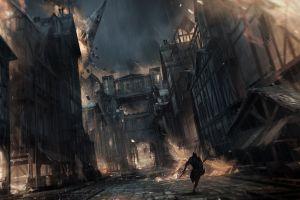 fantasy city video game art thief