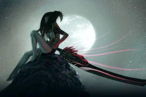 fantasy girl fantasy art sword