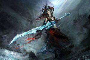 fantasy girl sword fantasy art