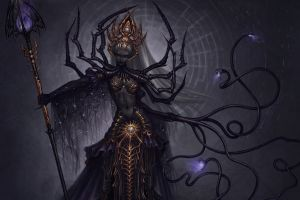 fantasy girl women creature demon fantasy art