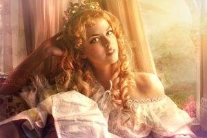 fantasy girl women princess curly hair