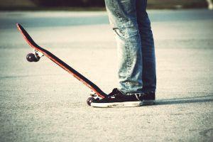 feet sneakers skateboard