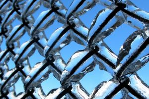 fence metal ice