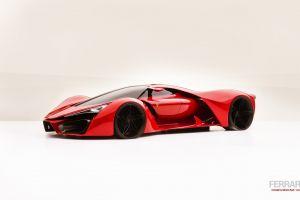 ferrari concept art red cars concept cars