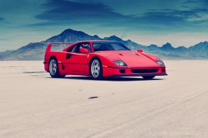 ferrari red cars car ferrari f40 desert vehicle