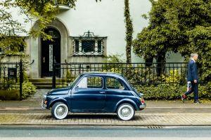 fiat vehicle car blue cars urban fiat 500
