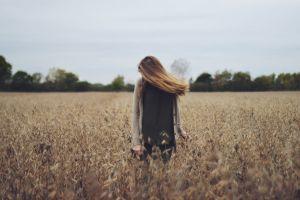 field women outdoors women landscape long hair
