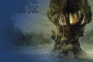 fire artwork gothic 4 fantasy art forest concept art trees