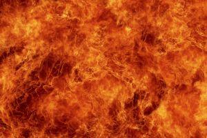 fire burning orange