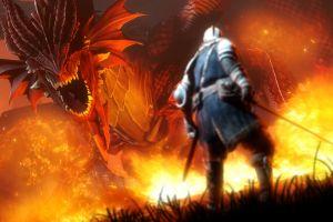 fire dragon dark souls video games