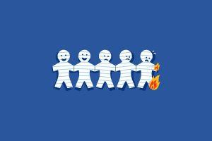 fire paper humor minimalism