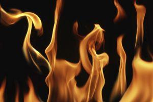 fire simple background closeup