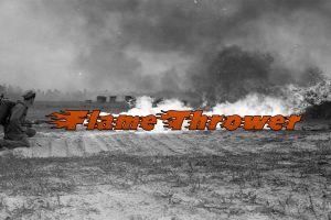 flamethrower typography war soldier