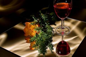 flowers alcohol drink wine