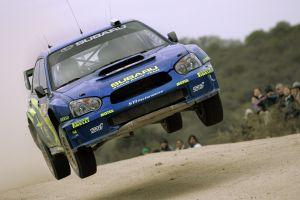 flying subaru subaru impreza  rally cars wrc