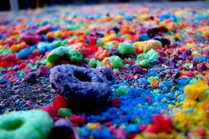 food colorful cereal fruit loops