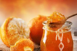 food jelly spoons orange (fruit)
