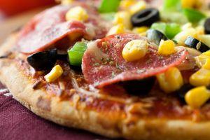 food pizza closeup