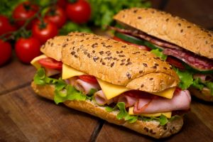 food sausage sandwiches