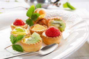 food spoon strawberries fruit dessert